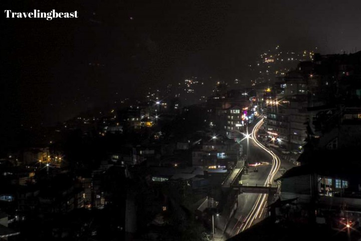 A night view of NH-27 - Gangtok by Road, Summer
